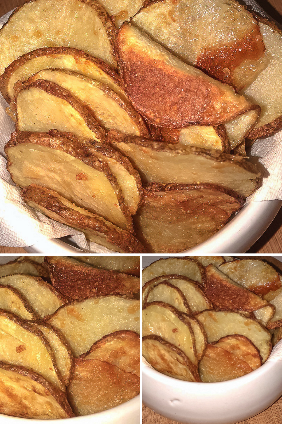 Homemade Air Fryer cottage fries are what I dream about on a regular basis. They are a lot different from your basic steak fry or waffle fry. They are circular cuts of potato that get baked or fried and offer that perfect tender and crunchy aspect a fry should have. #airfryer #potatoes #cottagefries #homemade