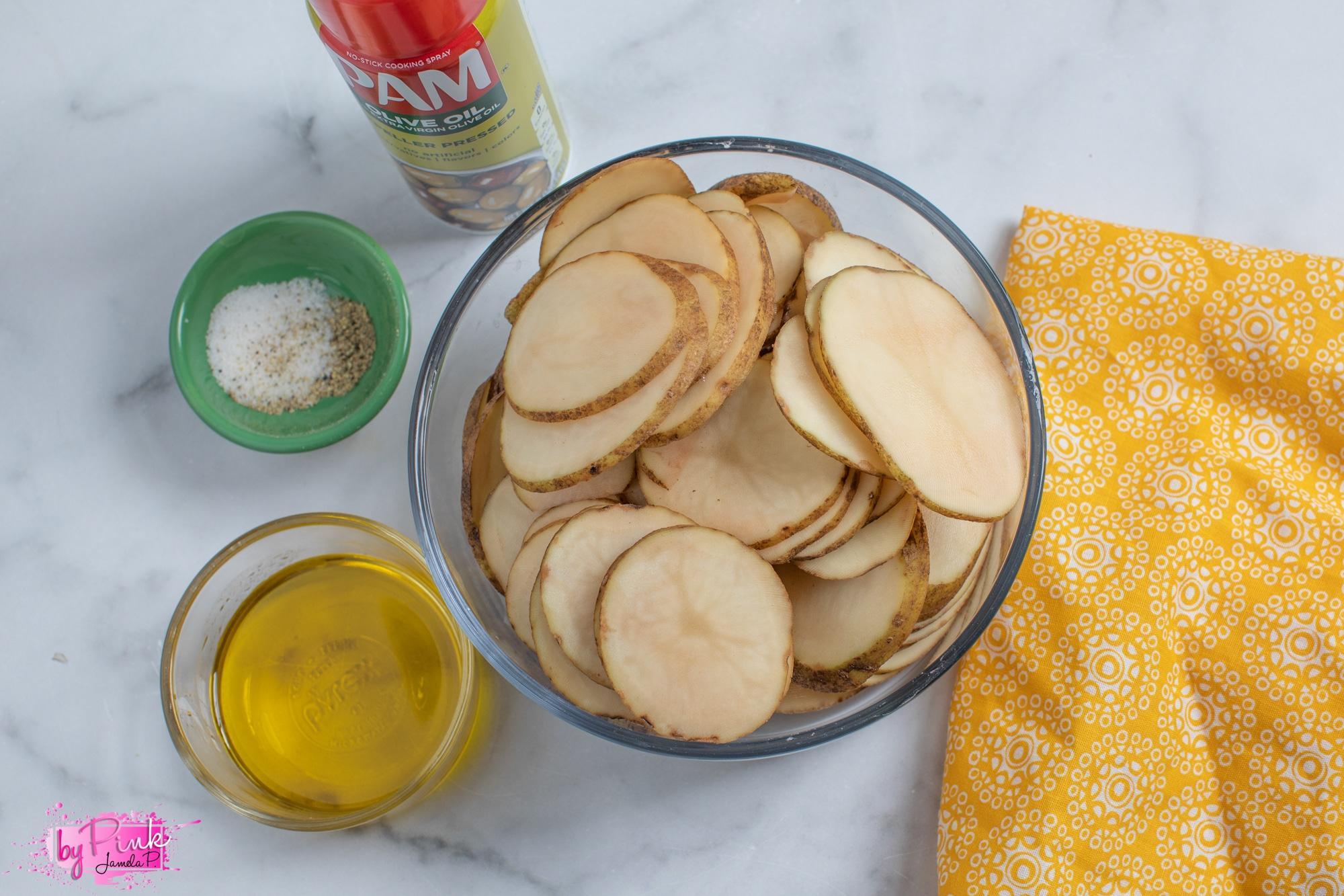 ingredients for air fryer sliced potatoes