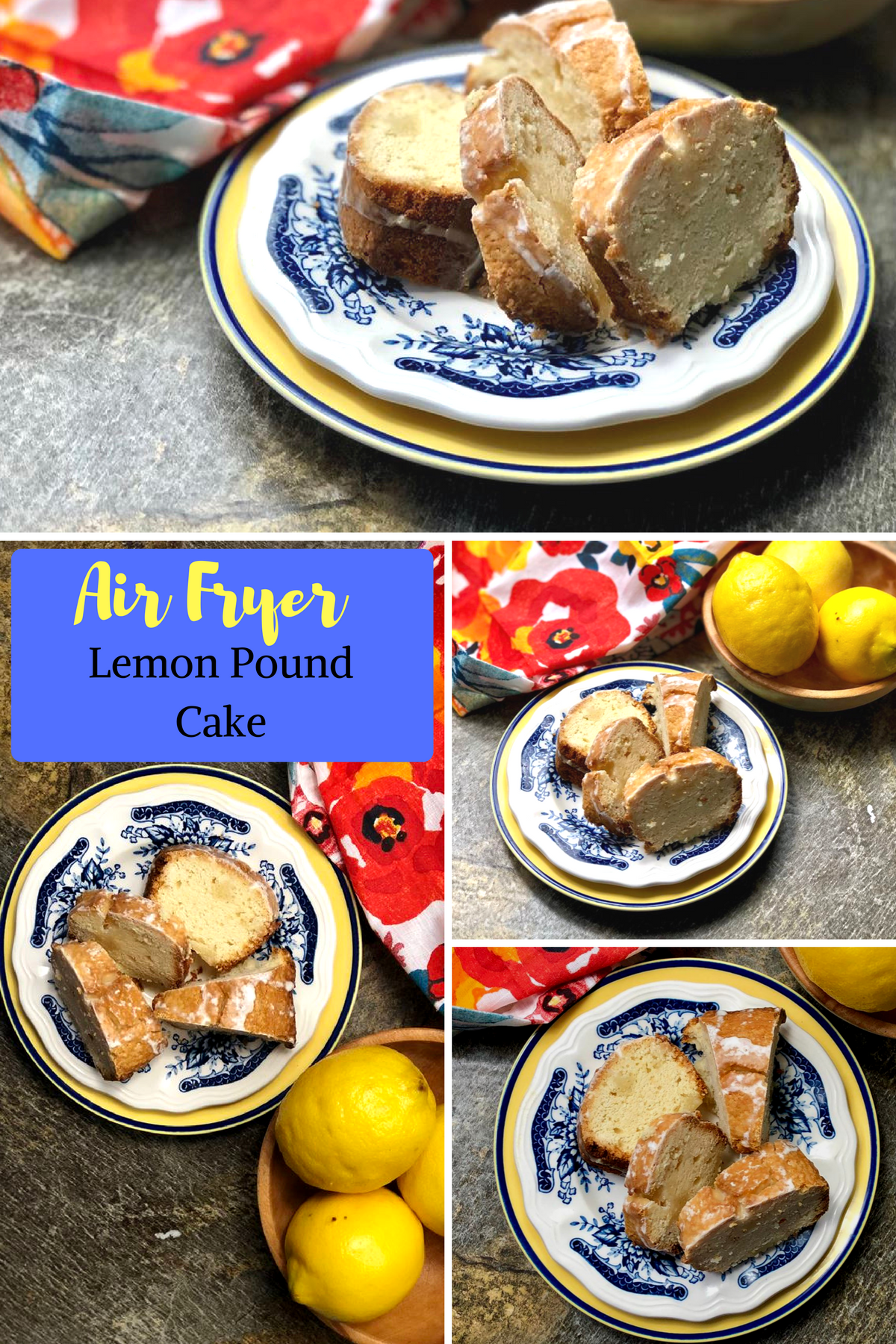 I grew up making lemon pound cake, and now that I am an adult and have kids of my own I carry on the tradition. I have just upgraded my recipe and use my beloved Air Fryer. #airfruer #cake #poundcake #lemon