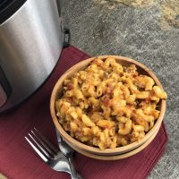 Instant Pot Cheesy Ground Beef Goulash