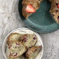Air Fryer Strawberry Banana Bread