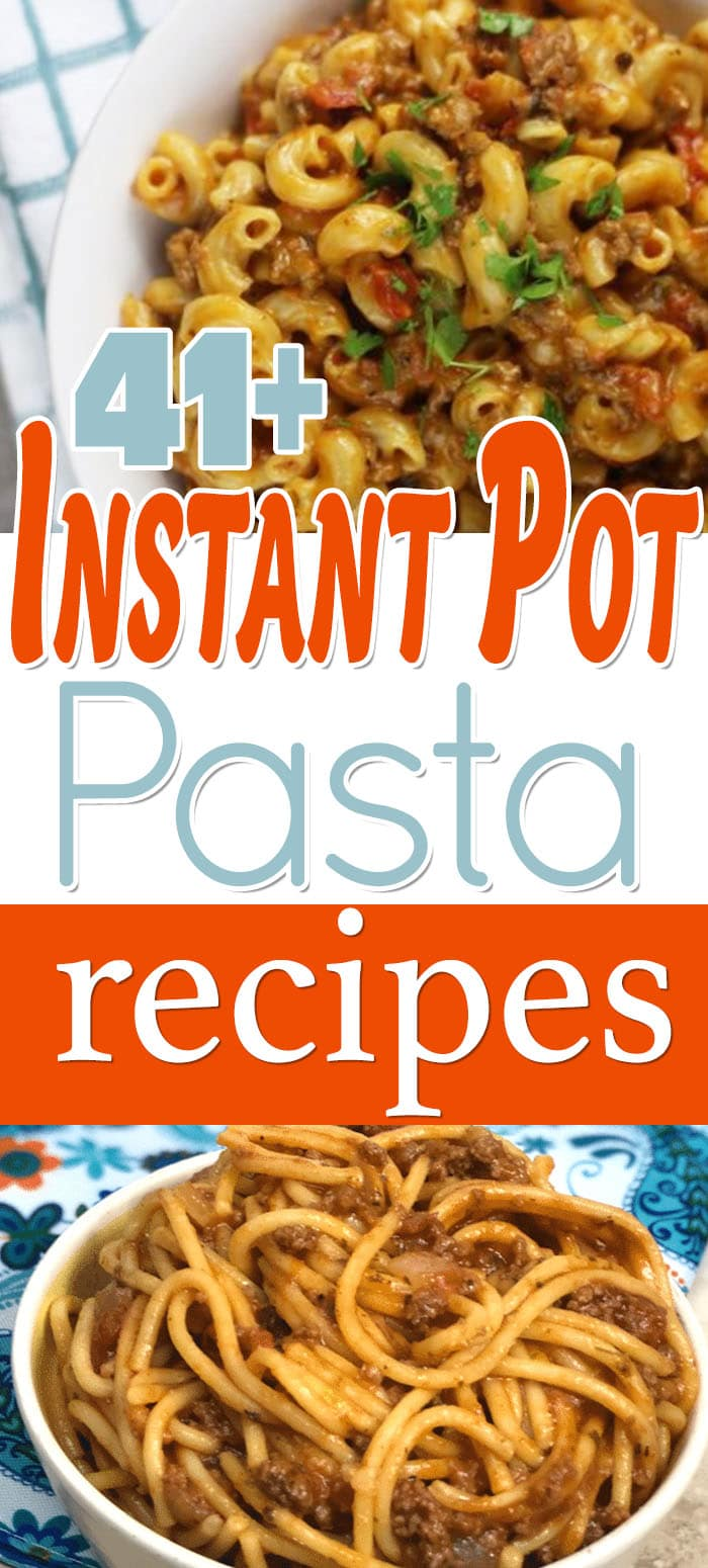 Can you cook pasta in the Instant Pot? Instant Pot Pasta Recipes are my favorite dishes to cook in the instant pot. I haven't looked at pasta the same. #recipes #instantpot #instantpotpasta #pasta #pastafoodrecipes