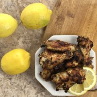 Garlic Lemon Pepper Air Fryer Chicken Wings