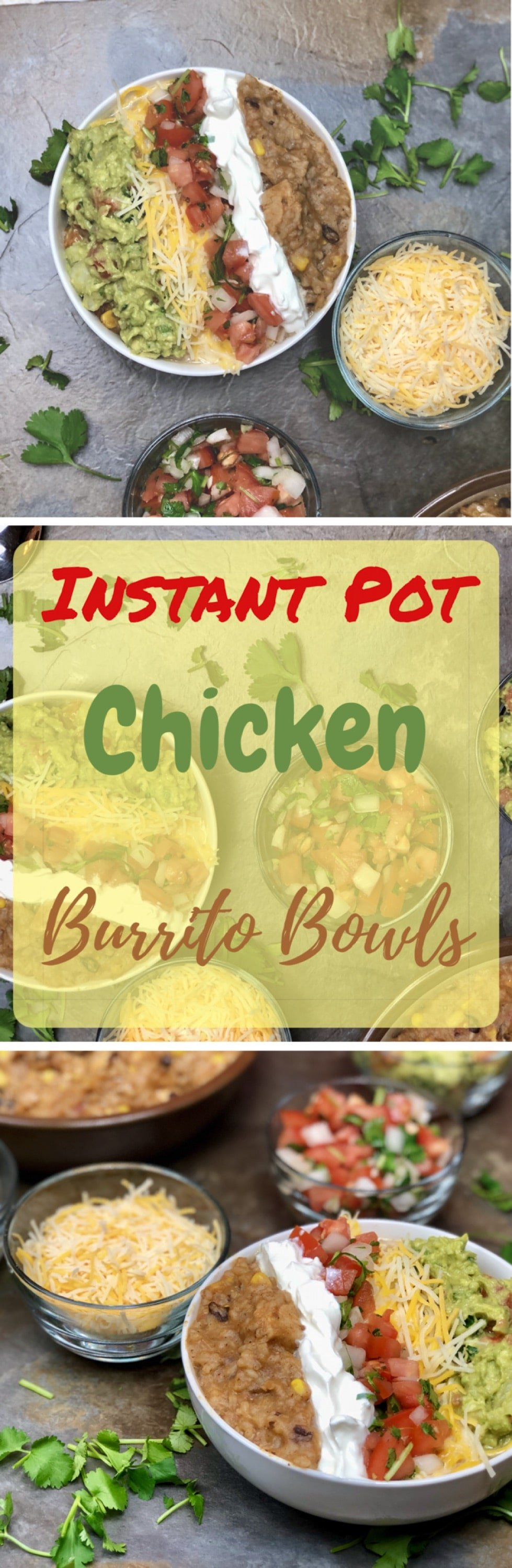 Today I am going to liven up your Taco Tuesday with this amazing Instant Pot Chicken Burrito Bowl. All the hearty goodness of a traditional burrito, but we eat it with a spoon!