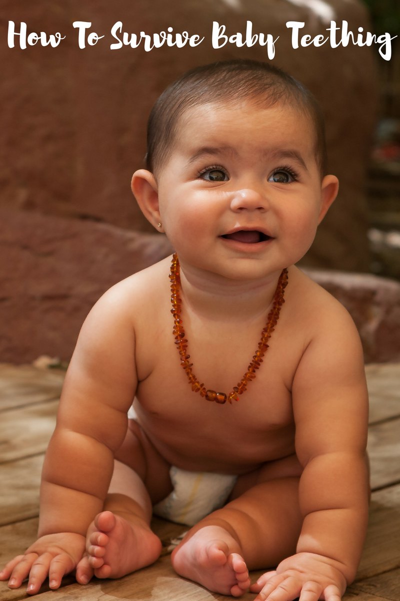 How To Survive Baby Teething #teethingnecklace #teethingjewelry #balticamber