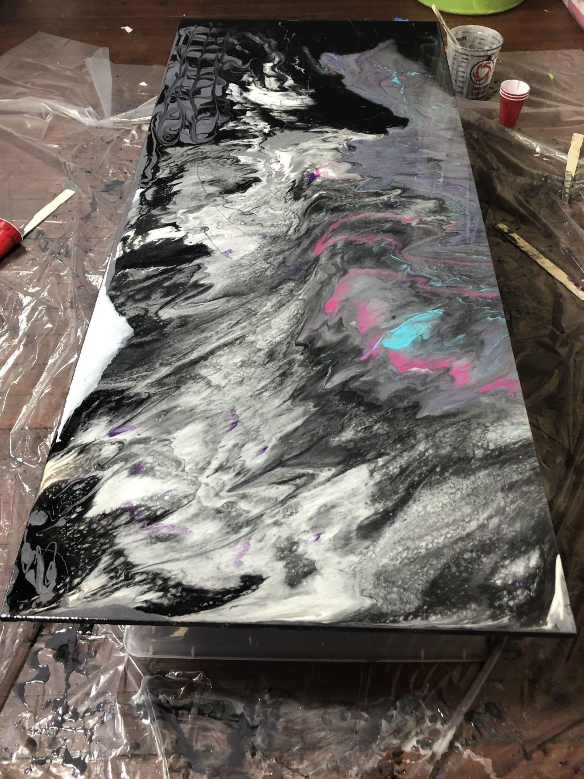 dirty pour diy epoxy countertops