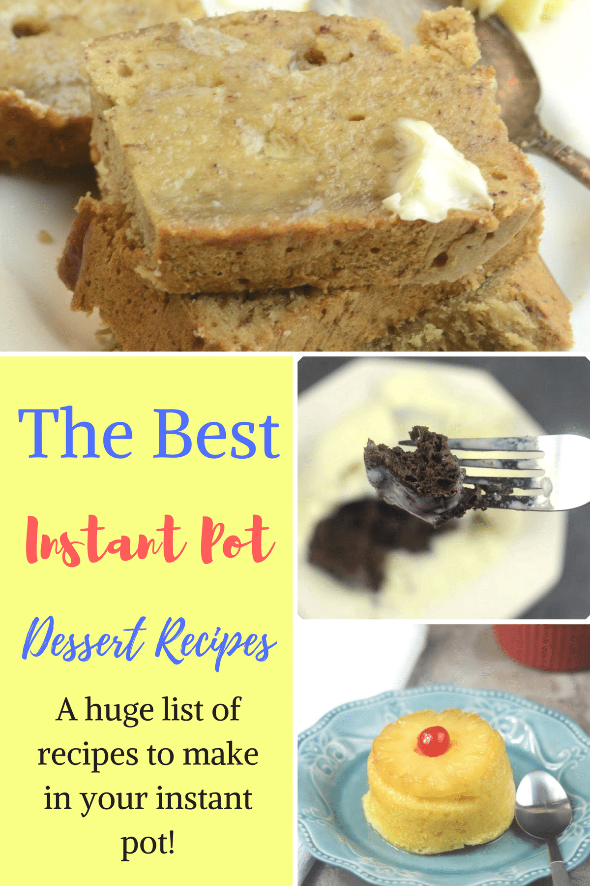 If you recently got an Instant Pot or are an avid user and just looking for more Instant Pot Desserts to make, than you have come to the right place! I have a little bit of everything from cakes, yogurt, rice pudding, muffin bites and more. Be prepared for your tummy to growl as you scroll through, these are just all so tasty. #instantpot #bestdesserts #dessert #recipe #iprecipes #easyrecipes