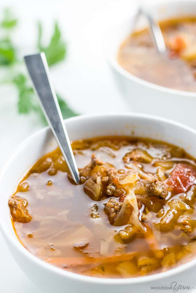 Instant Pot Cabbage Soup With Ground Beef