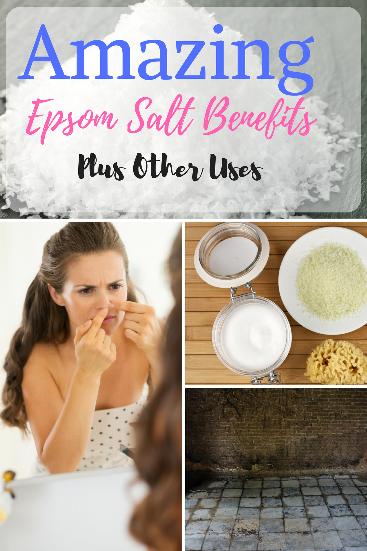 Epsom salt is great for soothing your sore muscles when doing an Epsom salt bath but did you know that you can use it in other areas of your home? I want to share some great Epsom salt benefits and uses. #hacks #epsosalt #naturalremedies