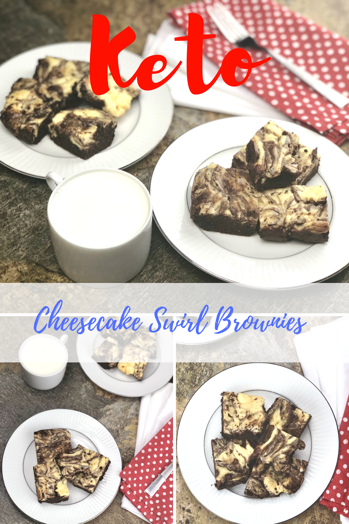 wo things that are meant to go together are cheesecake and brownies, and these cheesecake swirl keto brownies are where it is at. They are a keto brownie that is approved for your keto diet but allows you to get that sweet fix that your heart might be yearning for. #keto #lowcarb #cheesecake #brownies