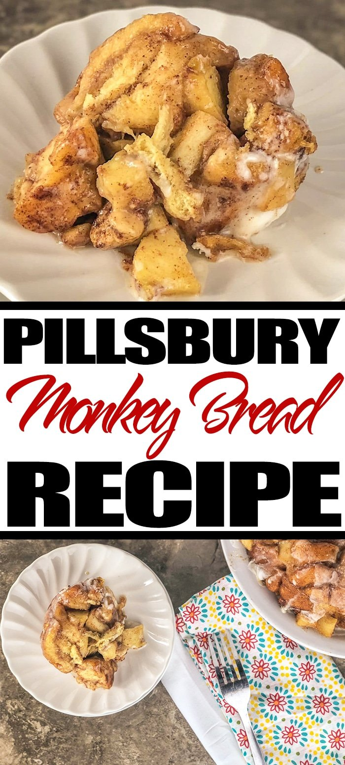 This Pillsbury Monkey Bread Recipe is an upgrade from your classic monkey bread. #pillsbury #monkeybread #breakfast #recipes