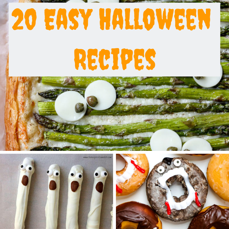 With Halloween fast approaching I am reminded by how busy my life is and I have been on the hunt for some easy Halloween recipes.