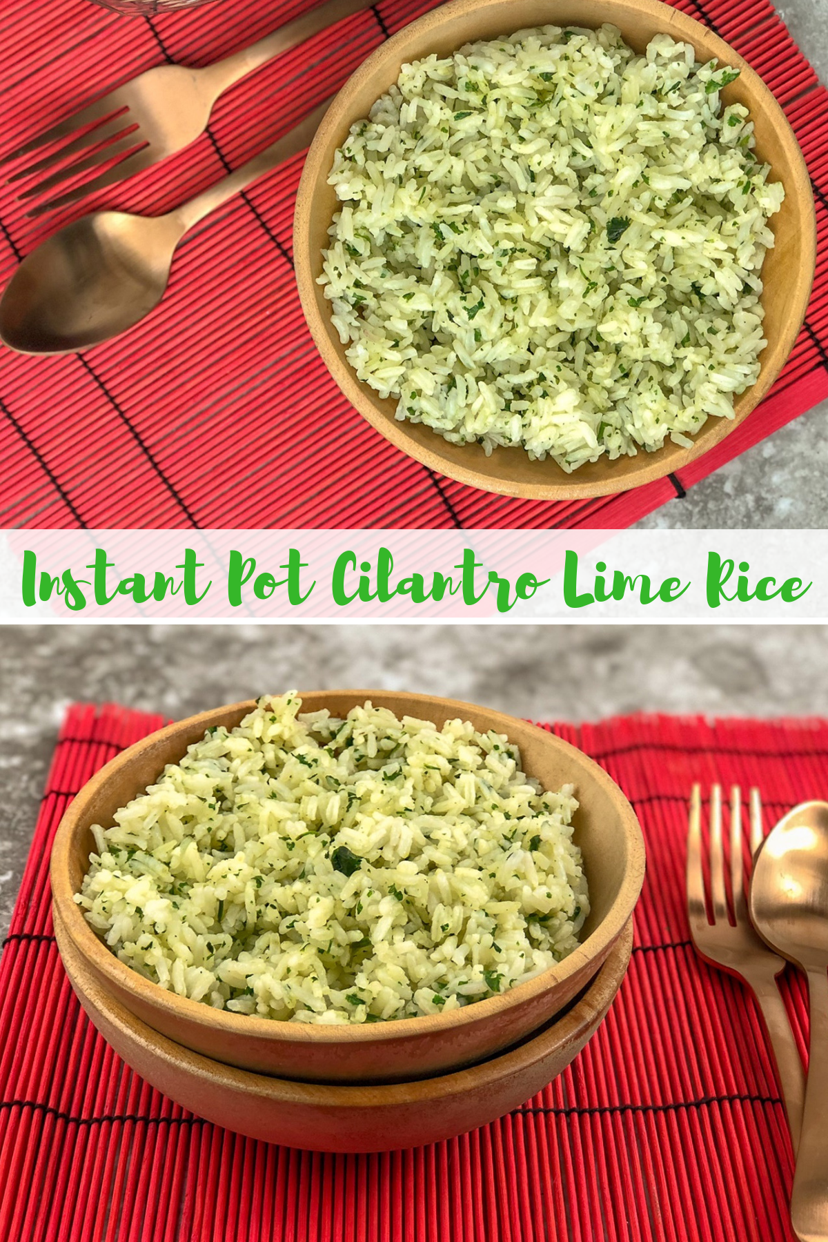 Liven up your plain rice with this cilantro lime rice recipe. Cilantro lime rice is a bright and colorful rice to dress up your dinner plates! #cilantrolime #cilantrolimerice