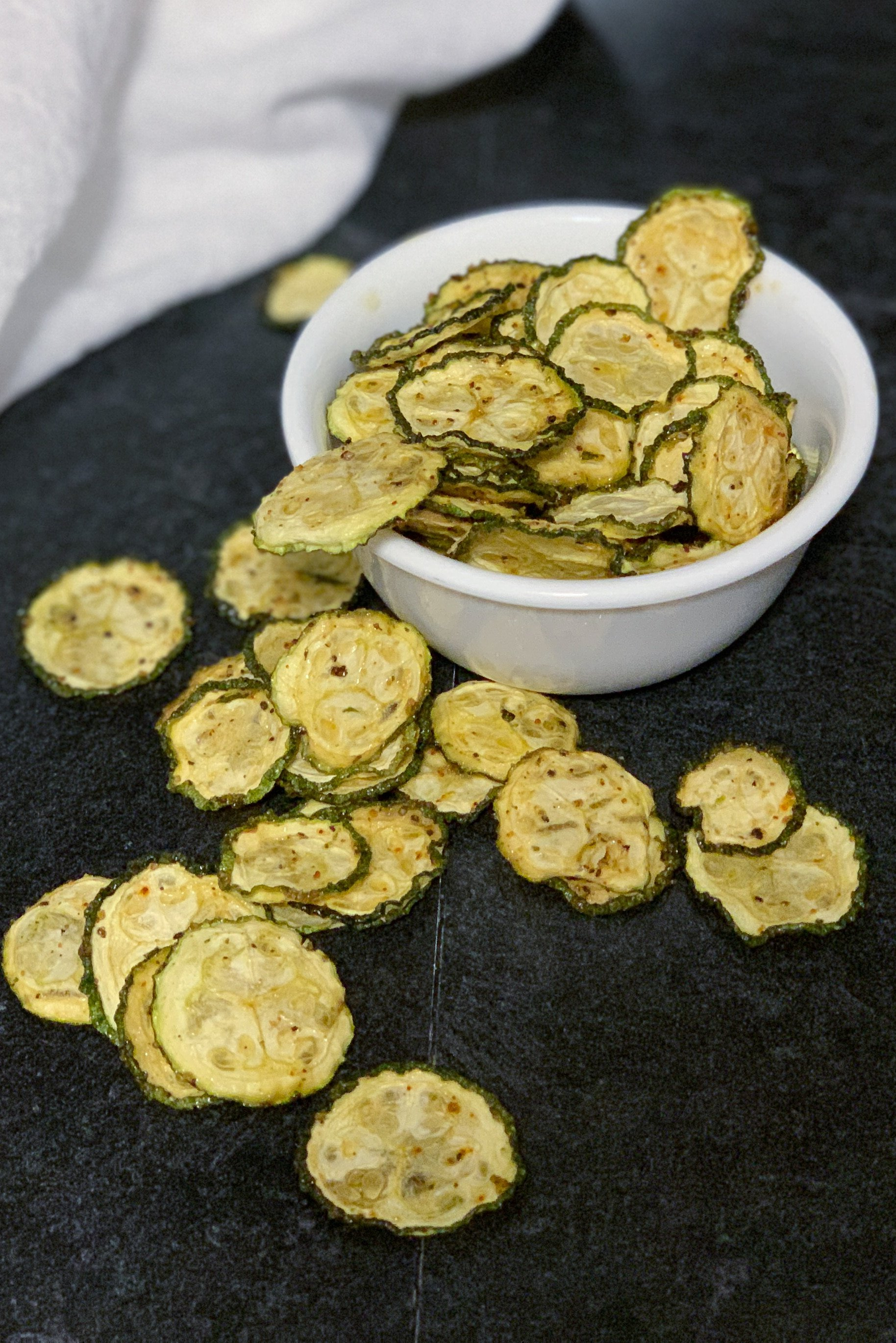 Dehydrated Zucchini Chips In The Air Fryer By Pink
