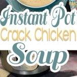pinterest image for crack chicken soup