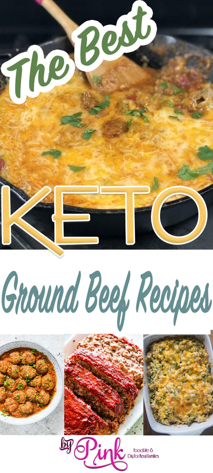 pinterest image for keto ground beef recipes