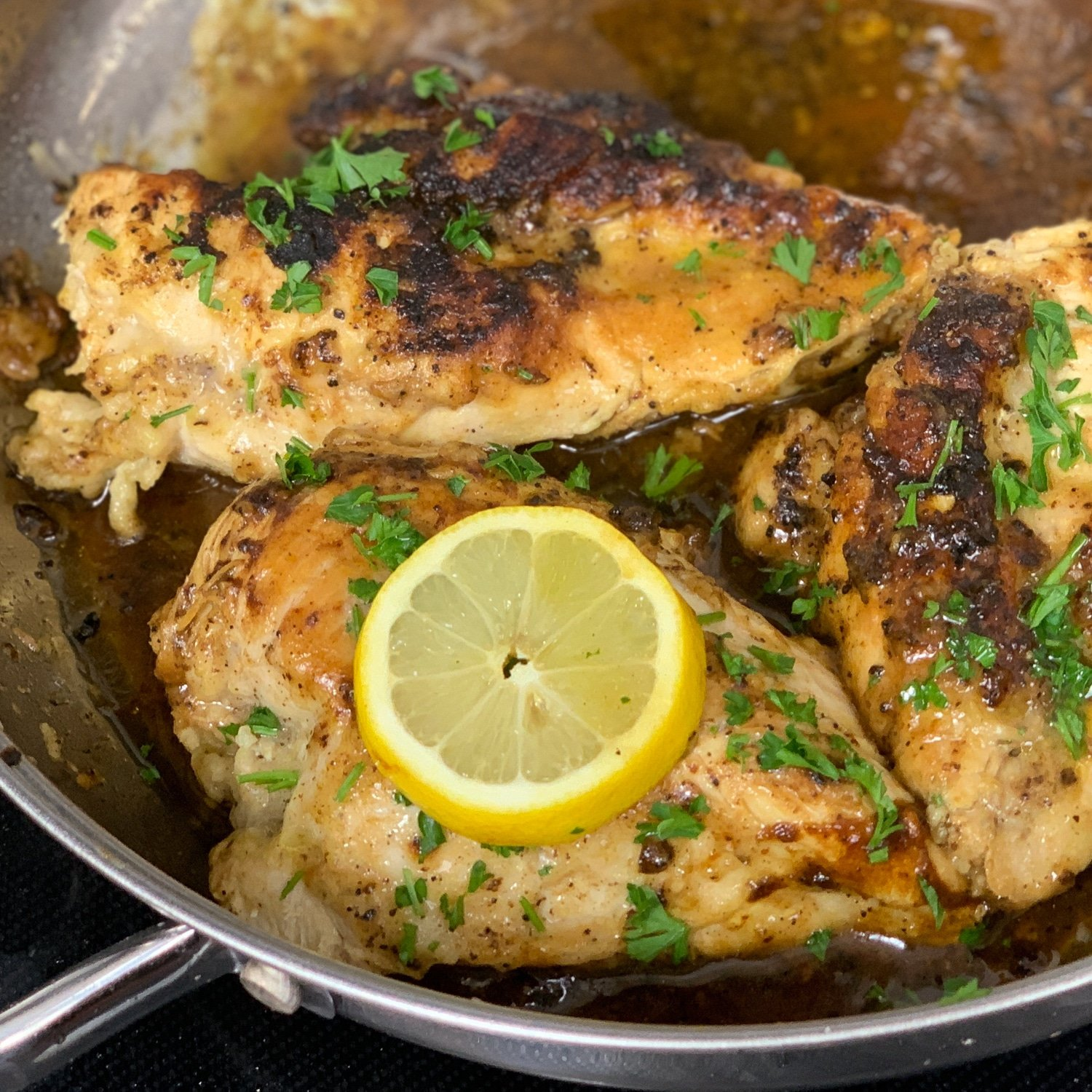 Skillet Lemon Pepper Chicken Recipe ⋆ By Pink