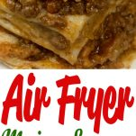 pinterest image for mexican lasagna in the air fryer