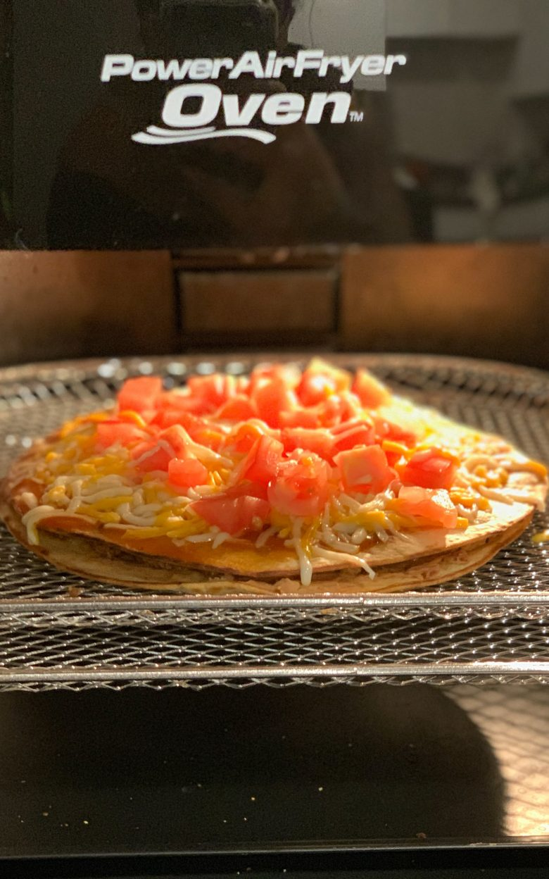 mexican pizza in the power fryer oven