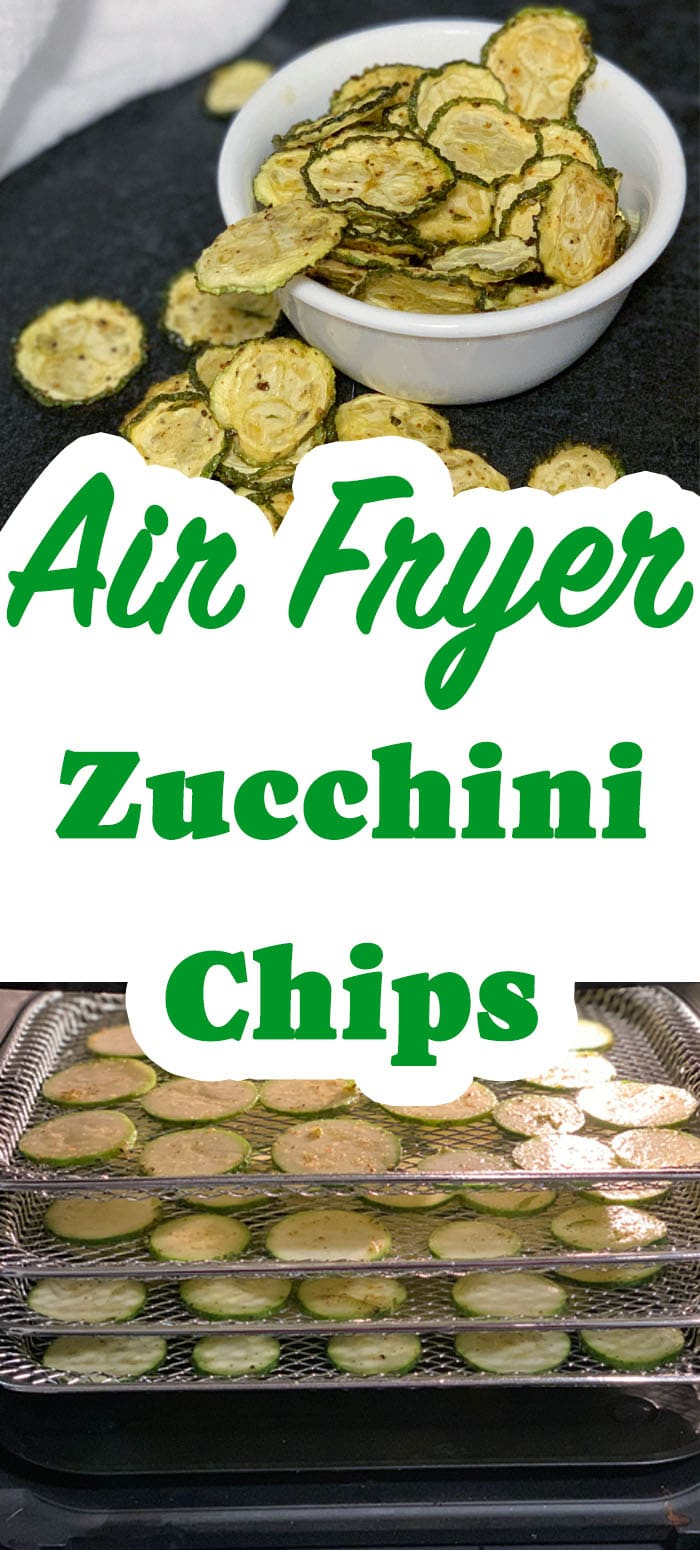 These zucchini chips are only 3 net grams of carbs per serving, a shelf-stable healthy chip and are also a Power Fryer Oven recipe on the dehydrator function.