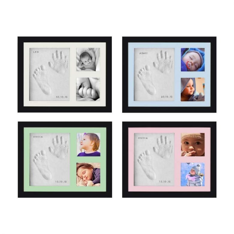 Baby Handprint Footprint Photo Frame Kit