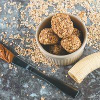 Peanut Butter Oatmeal Balls With Banana