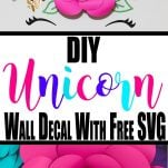 Pin image for unicorn wall decal