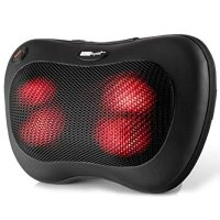 Heated Pillow Massage for Back and Neck, MassageRite Amazing Back Massage for Pain Relief Relaxation and Warmth. Best massage pillow with heat
