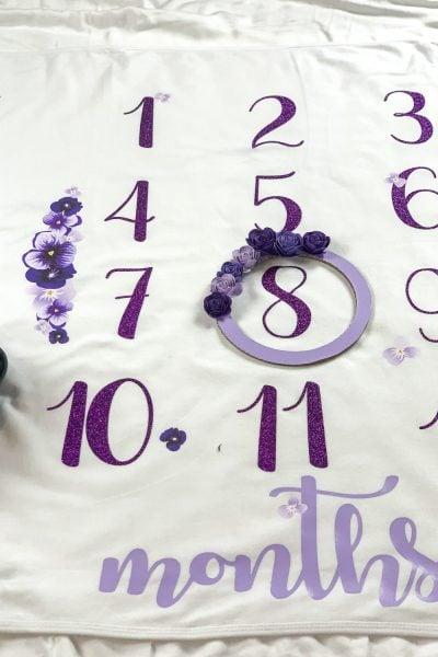 numbers of the baby milestone blanket