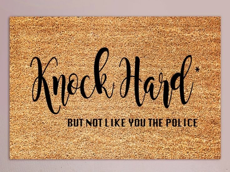 I had been looking all over for the perfect outdoor mat to match my smart-mouthed personality. I couldn't find anything to save my life. #crucutmade #diydoormat