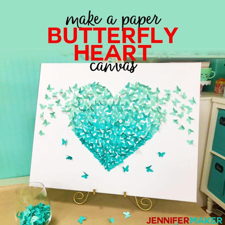 Paper Butterfly Canvas Wall Art