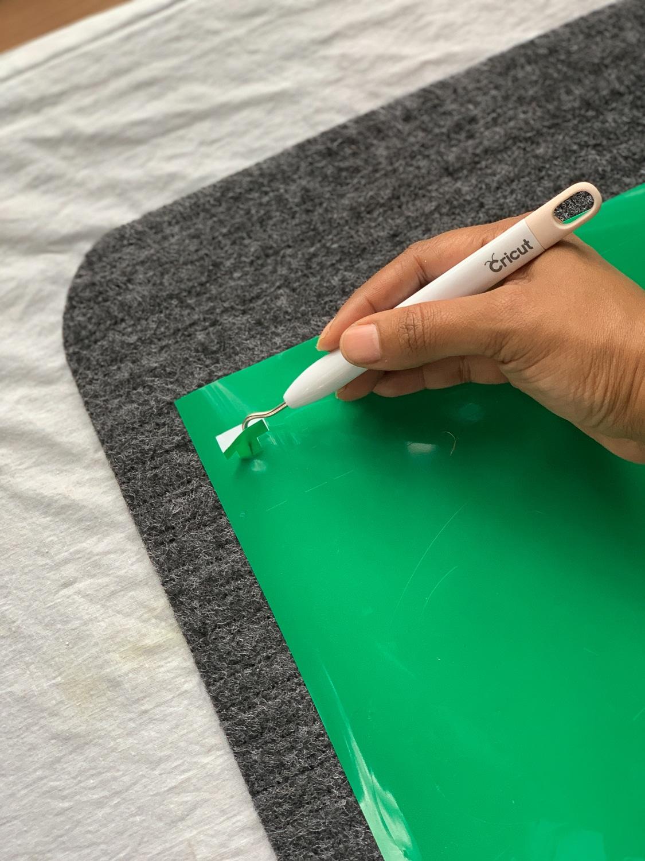 weeding green adhesive vinyl for doormat