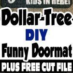 dollar tree diy funny doormat collage for pinterest