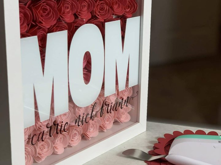 How To Make An Ombre Paper Flower Shadow Box
