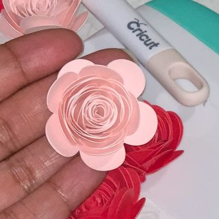 close up of pink paper flower
