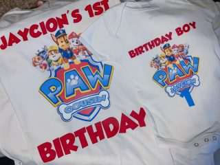 paw patrol print and cut shirts