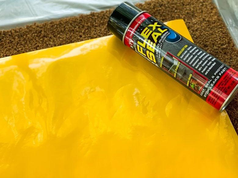 yellow vinyl and flex seal