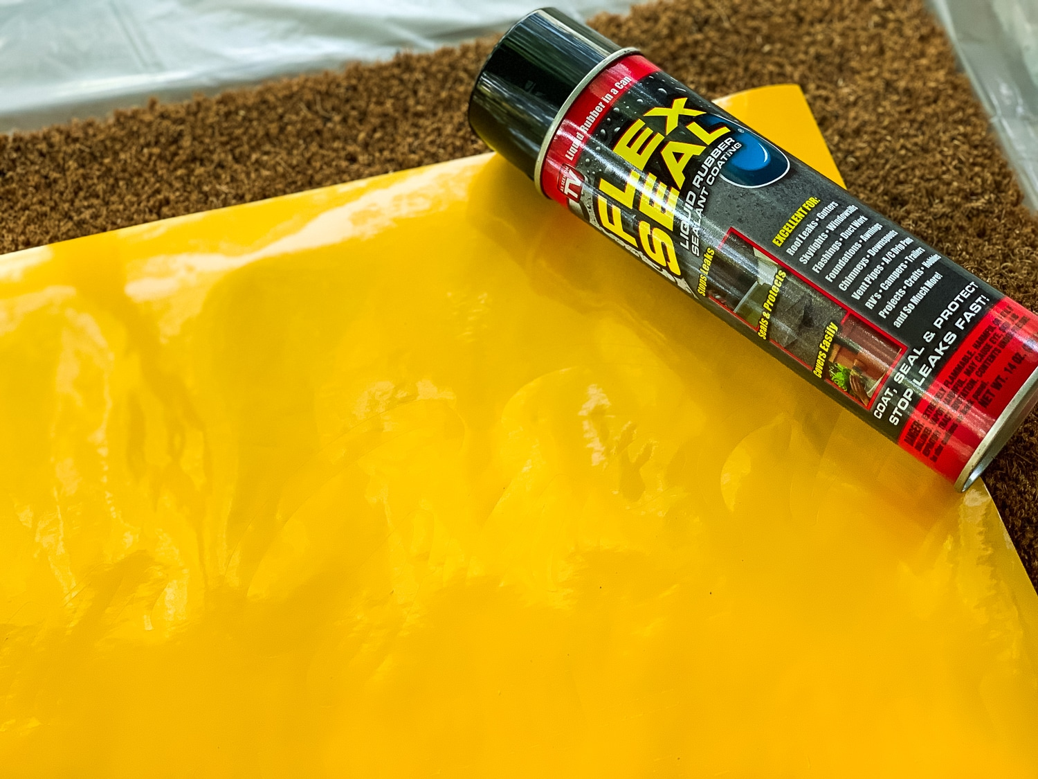 How To Make A Diy Doormat Using Flex Seal ⋆ By Pink