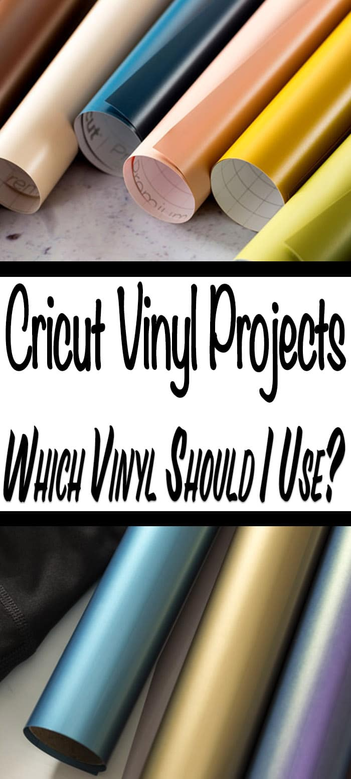 If you are new to crafting with vinyl and you want to know which vinyl to use with your Cricut vinyl projects, then I have got a treat for you. #cricutprojects #cricutvinylprojects