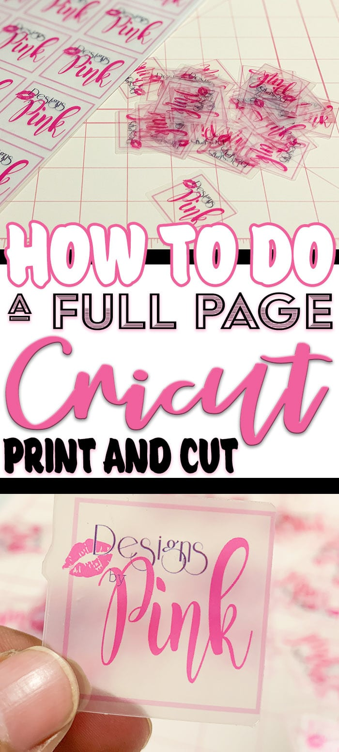 One of the best features of the cricket family of products. Is the Cricut print and cut feature. But what if you could do a full page print and cut? #cricut #cricutmade