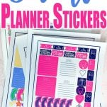 Make these free printable stickers to fit your Anna Griffin and your Happy planners or any other planner you have for that matter.
