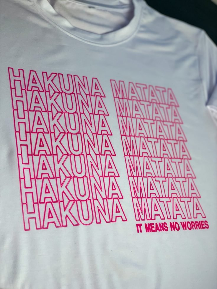 How To Make A Cricut Infusible Ink Pens Hakuna Matata Shirt