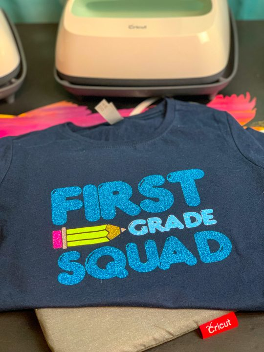 Cricut Back To School First Grade Squad Shirt + Free Cut File