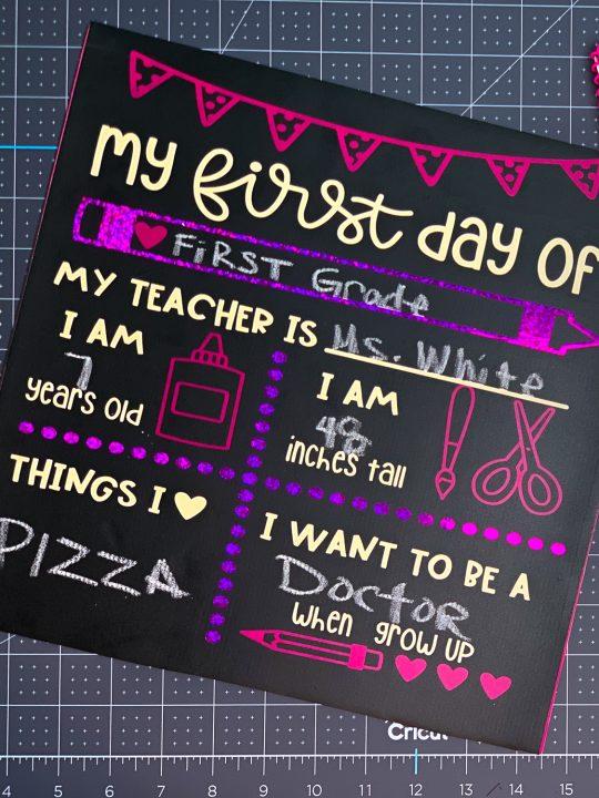 Cricut Back To School Chalk Board Signs