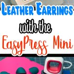 Leather Earrings With EasyPress Mini - Pin Image