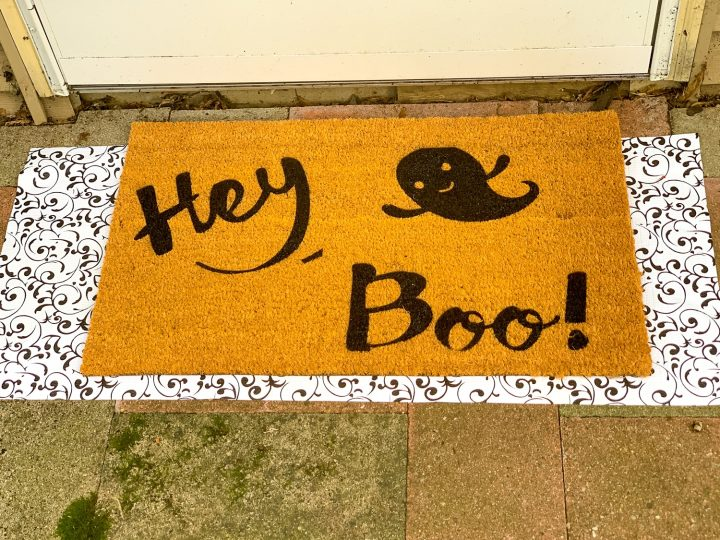 finished halloween doormat