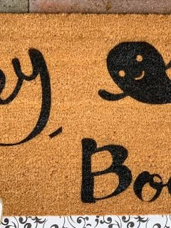 DIY Cricut Halloween Doormat