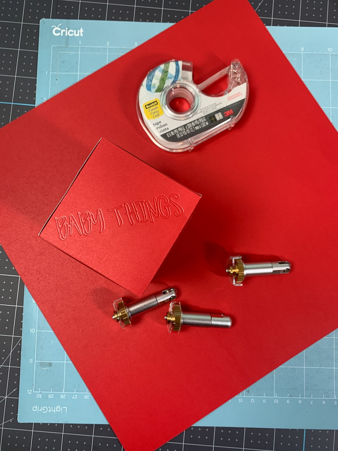 finished gift box with cricut maker tools