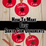 Santa Cam Ornament Paper Craft