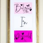 Cricut DIY Wall Decor with Free SVG